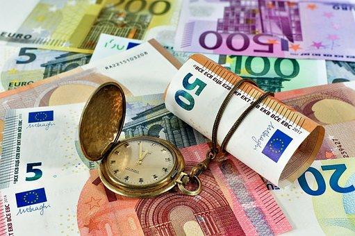 Euro, Argent, Finances, Monnaie, Temps