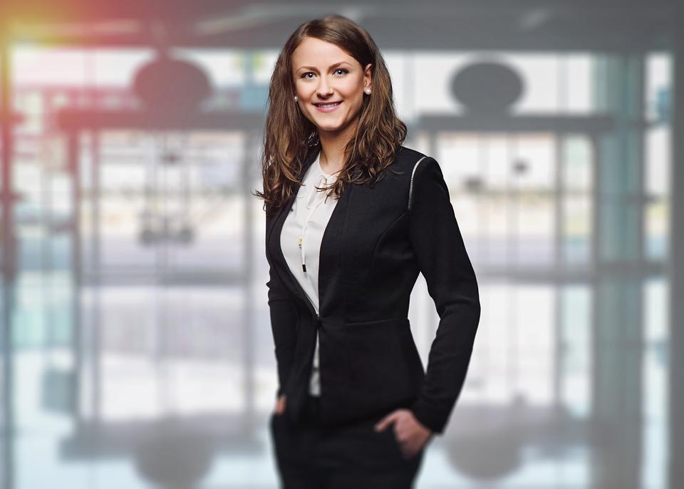 Woman in office attire