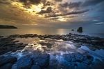 volcanic rock, coral, adventure