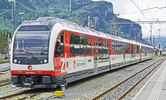 スイス, 電車, 中央鉄道, ルツェルン-インターラーケン