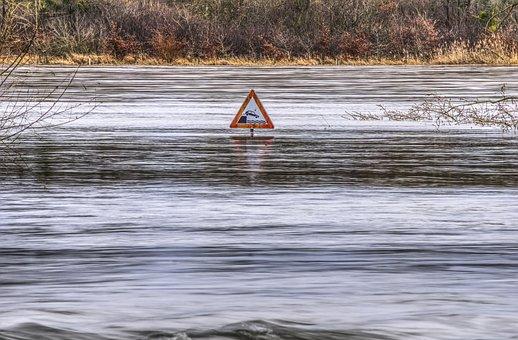 Inonder, Couler, Inondation, Inondé