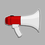 megaphone, speaker, loud