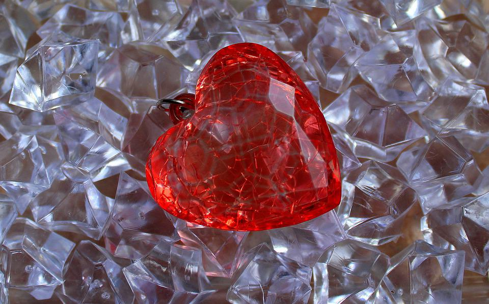 Heart, Crystal, Glass, Valentine'S Day, Romantic