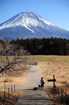 山, 自然, 風景, 空, 屋外で, 富士山, 日本, 太陽