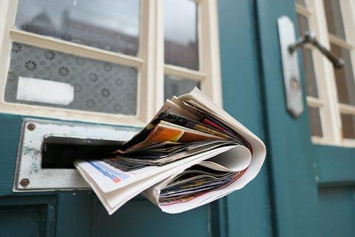 Jornal, Post, Caixa De Correio, Notícias