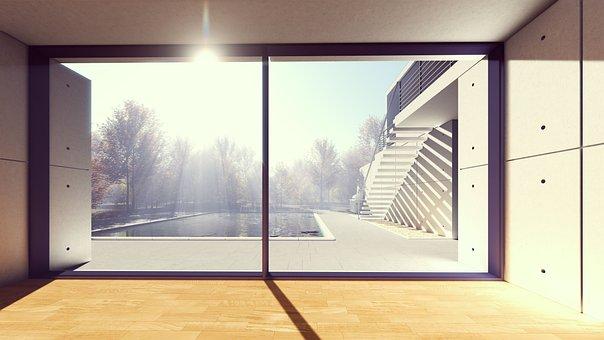 窗口, 在室内, 空, 结构, 天气晴朗, 户外, 办公室, 门, 房子, 现代