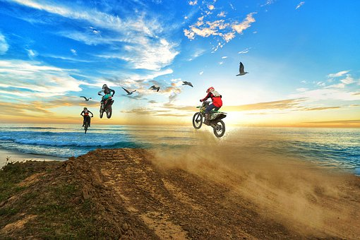 Sky, Motocross, Sport, Nature, Summer