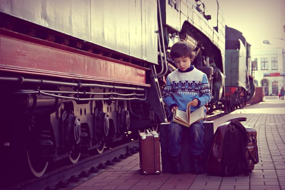 People, Baby, Train, Portrait, Kids, Railway, Moscow