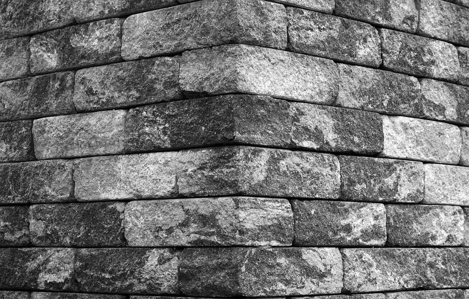 Stenen Muur Wit : Hoek rand stenen muur zwart · gratis foto op pixabay