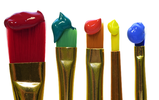 Brush, Color, Colorful, Painting, Red