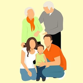 Réunion De Famille, Grands Parents, Père