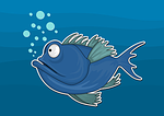 fish, sketch, sea