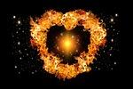 fire, heart, light