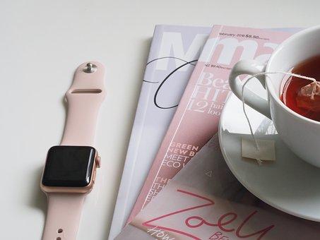 Coupe, Thé, Boire, Magazine, Lire, Reste