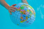 globe, summer season, world