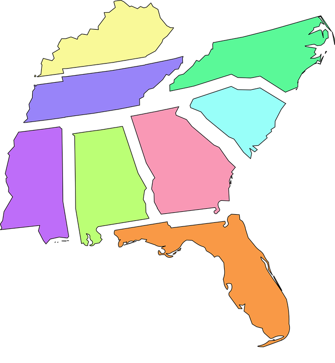 Map Of Georgia Florida And Alabama.Map Florida Alabama Free Vector Graphic On Pixabay