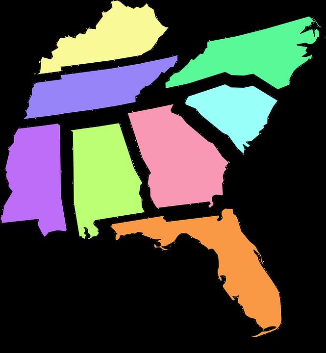 Florida Alabama Map.Map Florida Alabama Free Vector Graphic On Pixabay
