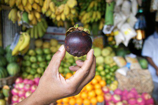 Market, Fruit, Food, Nature, Mangosteen