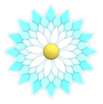 flower, ornament, aqua