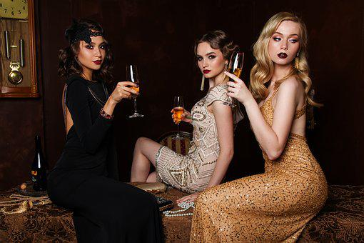 Three, Women, Fashion, Hair, Glamour