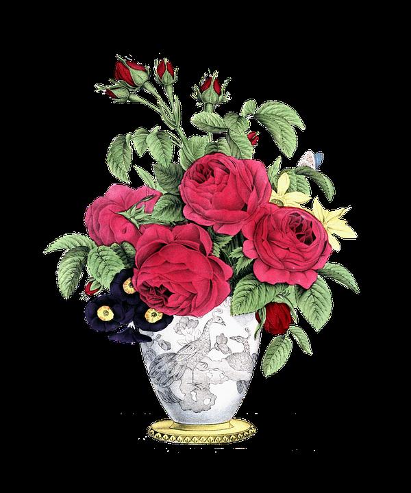 Rose Vintage Decoration Leaf Floral Flower Gift