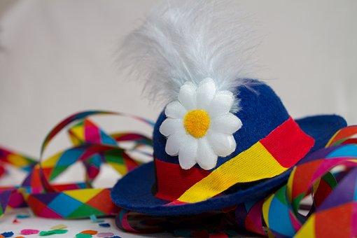 Karneval, Party, Hut, Luftschlangen