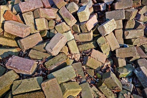 Brick, Stone, Material, Pile Of Bricks