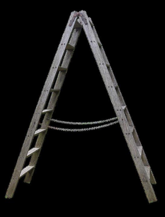 Hout, Hoofd, Houten Ladder, Tuin, Boost
