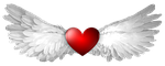 heart, wing, wings