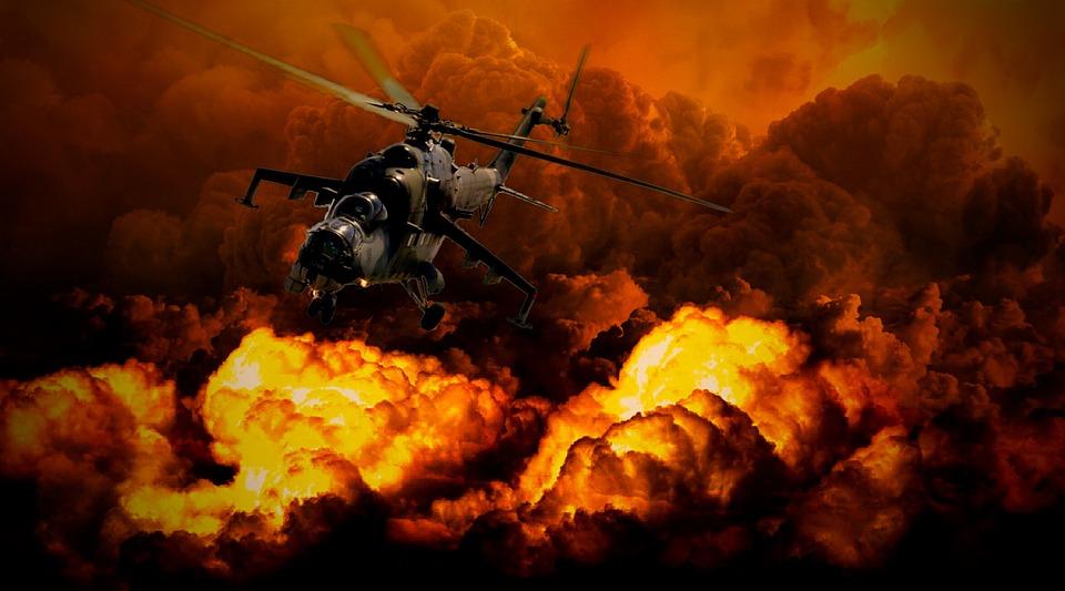 戦争, ヘリコプター, 軍事, 防衛, 軍, フライ, 航空機, 戦い, 兵士, 武器, 多く, 星雲