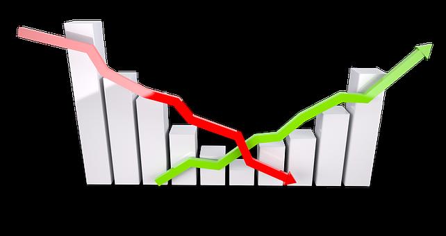 グラフ, 成長, 進行状況, 図, アナリスト, 経済, 景気後退, 市場