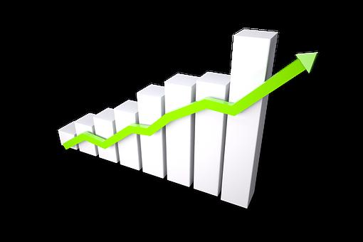 成長, 進行状況, グラフ, 図, アナリスト, 達成, 改善, 統計