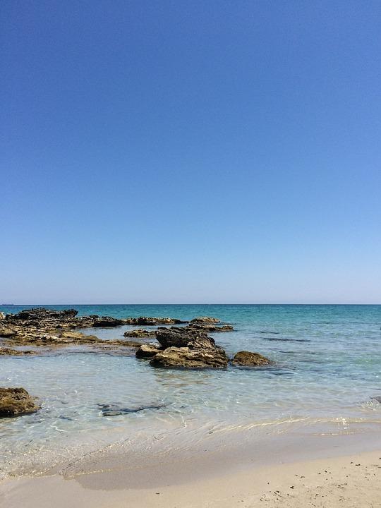 Sabbia, Acque, Spiaggia, Viaggiare, Mare, Puglia, Baia