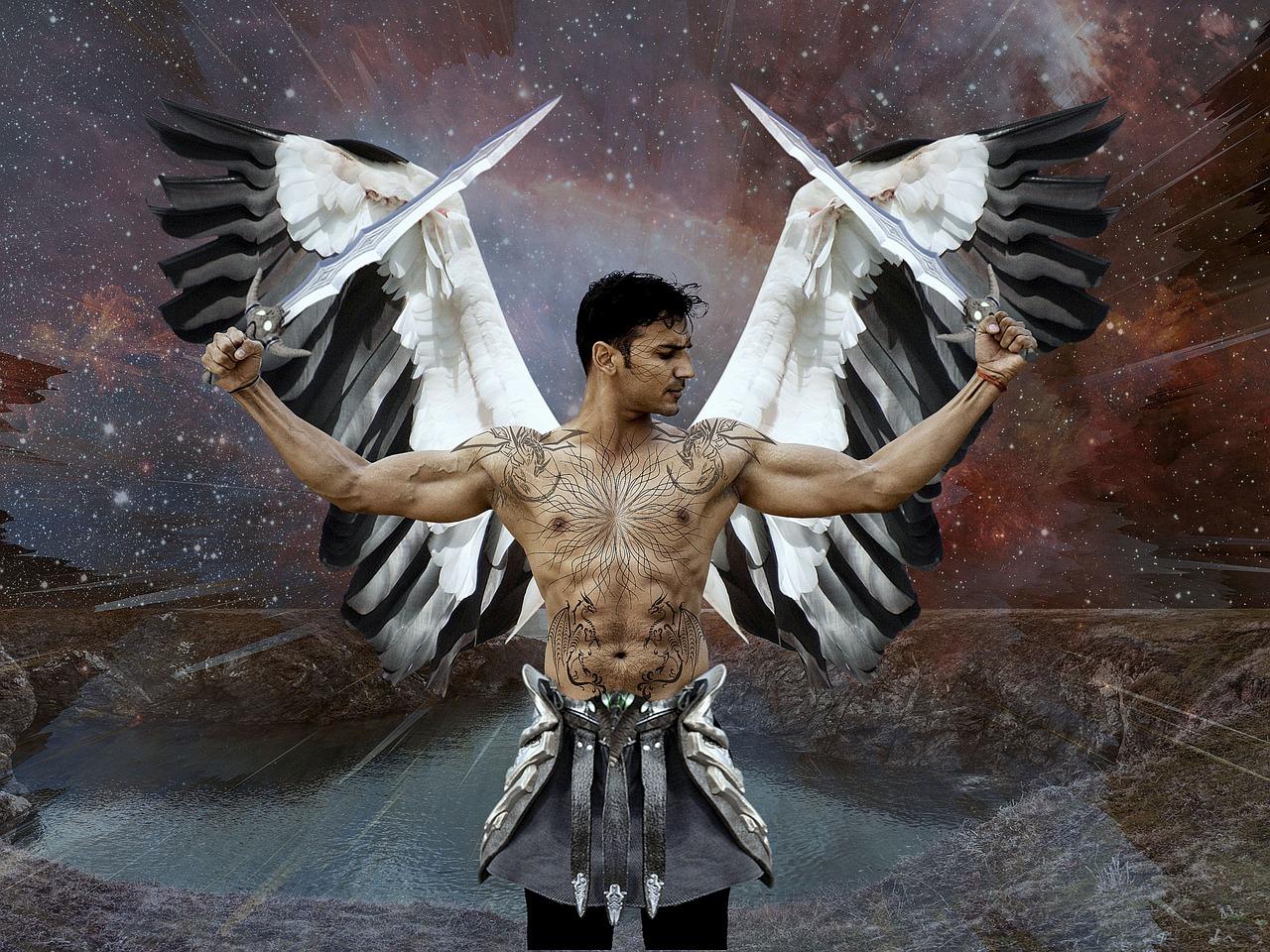 Картинки ангел с крыльями мужчина