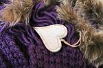 heart, violet, wood