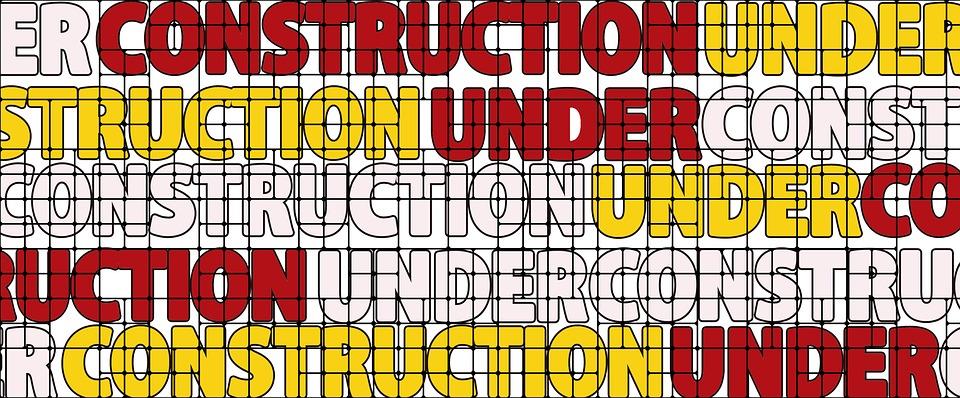 Under Construction, Construction Site, Sign, A Notice