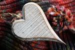 feeling, heart, wood