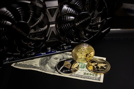 Gold, Cryptocurrency, Money, Finance