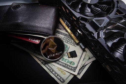 Leather, Wallet, Business, Cards, Visa