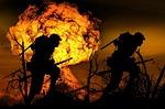 explosion, war, soldier