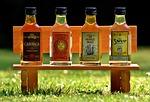 rum, alcohol, bottles