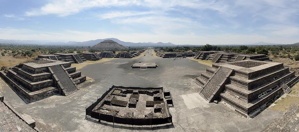 América Central, México, Teotihuacán, Panorama