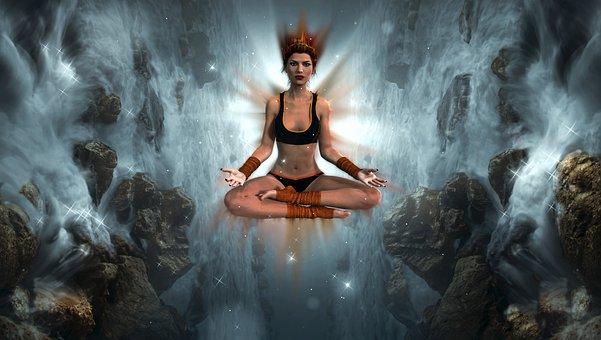Fantasía, Chica, Meditación, Yoga