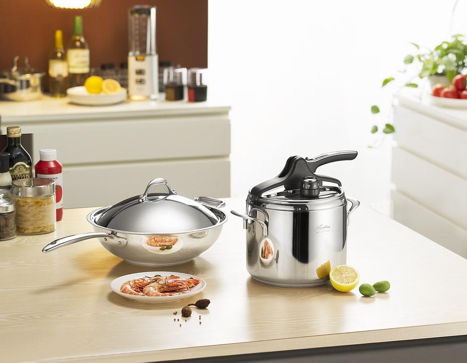 ストーブ、調理、調理器具、デバイス、中華なべ