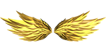 wings, gold, fire