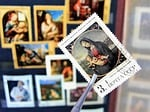 madonna, postage stamps, painting