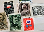 postage stamps, paper