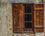 wooden, window, old
