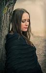 portrait, woman, outdoors