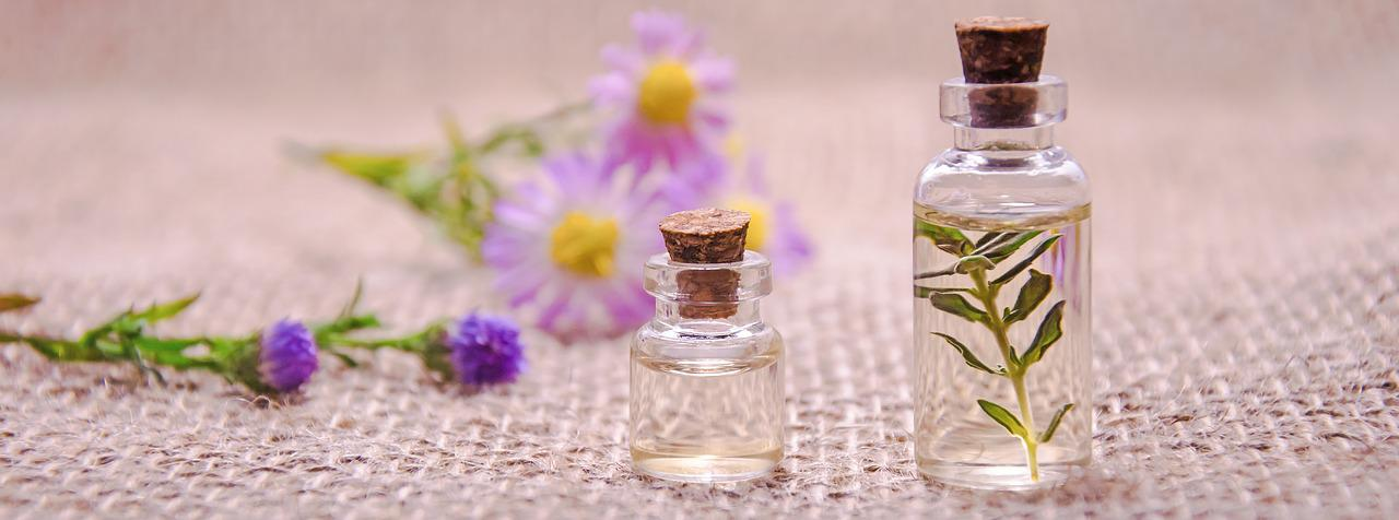 2 bottles of essential oils